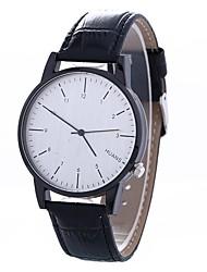 cheap -Women's Wrist Watch Chinese Creative / Casual Watch / Large Dial PU Band Fashion / Minimalist Black / Brown / One Year