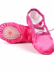 baratos -Mulheres Sapatilhas de Balé Seda Sapatilha Sem Salto Personalizável Sapatos de Dança Roxo / Amarelo / Verde / Espetáculo