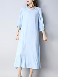 cheap -Women's Tunic Dress - Solid Colored Low Waist