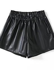 abordables -Femme Basique Ample / Short Pantalon Couleur Pleine