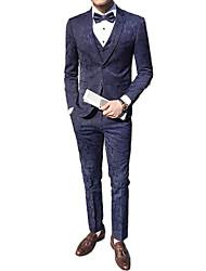cheap -Men's Suits-Floral Notch Lapel / Long Sleeve / Work