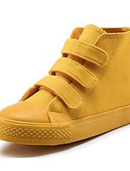 preiswerte -Mädchen Schuhe Leinwand Herbst Komfort Sneakers für Weiß / Purpur / Gelb