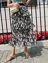 cheap -Women's Daily / Going out A Line Skirts - Floral / Going out