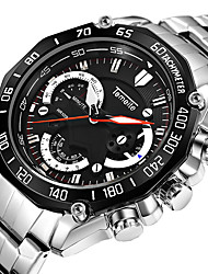 cheap -Men's Sport Watch Calendar / date / day Stainless Steel Band Luxury / Cool Silver