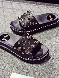cheap -Women's Slippers House Slippers Ordinary PVC Beading
