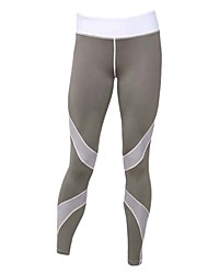 cheap -Women's Mesh / Patchwork Running Pants - White, Black, Grey Sports Mesh Tights / Leggings Yoga, Fitness, Gym Activewear