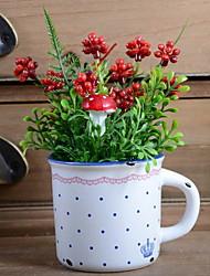 baratos -Flores artificiais 1 Ramo Estilo simples / Tradicional Plantas Flor de Mesa