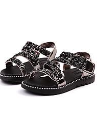 abordables -Fille Chaussures PUT Eté Confort Sandales Scotch Magique pour Enfants Noir / Argent / Rose