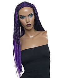 cheap -Wig Accessories / Twist Braids Straight Braid Synthetic Hair Synthetic / Woven / Cool Purple Wig Women's Long Cosplay Wig / Natural Wigs