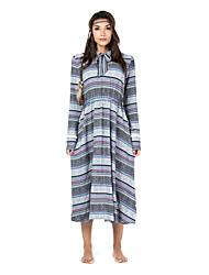 abordables -Femme Basique Patineuse Robe Géométrique Drapé Maxi