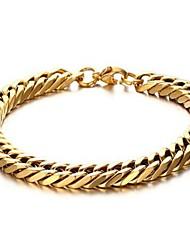 Недорогие -Браслеты-цепочки и звенья - Мода Браслеты Золотой Назначение Подарок Повседневные