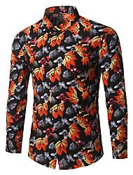 cheap -Men's Business Shirt - Floral
