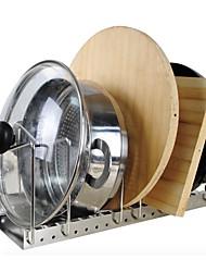 baratos -Organização de cozinha Titulares de panelas Aço Inoxidável Gadget de Cozinha Criativa / Armazenamento 1pç