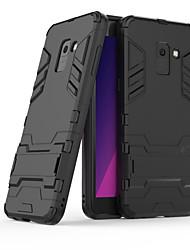 abordables -Funda Para Samsung Galaxy A8 2018 / A8 Plus 2018 con Soporte Funda Trasera Un Color Dura ordenador personal para A3 (2017) / A5 (2017) /