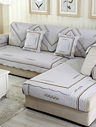 cheap -Sofa Cushion Floral Embroidery Cotton / Polyester Slipcovers