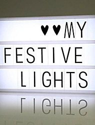 cheap -1set Lightbox Letter Light Box White AA Batteries Powered / USB Creative / with USB Cable / with Letters Cards