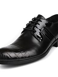 cheap -Men's Cowhide Winter Comfort Oxfords Black