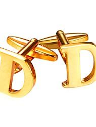 Недорогие -Буквы Серебряный / Золотой Запонки Позолота Мода Муж. Бижутерия Назначение Повседневные / Для улицы