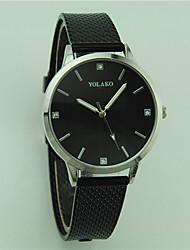 Недорогие -Жен. Наручные часы Китайский Повседневные часы Plastic Группа минималист / Мода Черный / Белый / Красный