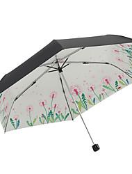 Недорогие -boy® Ткань Все Новый дизайн / Солнечный и дождливой / Ветроустойчивый Складные зонты