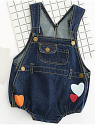 cheap -Baby Unisex Solid Colored Print Sleeveless Bodysuit