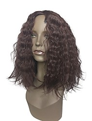 cheap -Wig Accessories / Synthetic Wig Wavy Burgundy Layered Haircut / Middle Part Synthetic Hair Anime / Heat Resistant / Synthetic Burgundy Wig Women's Long Capless / Natural Hairline
