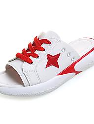 cheap -Women's Shoes PU(Polyurethane) Summer Slingback Slippers & Flip-Flops Flat Heel Black / Red