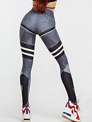 cheap -Women's Sporty Legging Geometric Mid Waist