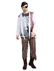 cheap -Ghost / Zombie Outfits Unisex Halloween / Carnival / Day of the Dead Festival / Holiday Halloween Costumes Black Solid Colored / Halloween