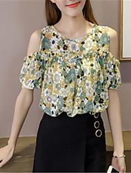 abordables -chemise pour femme - bloc de couleur autour du cou