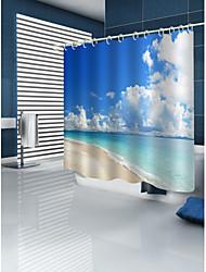 abordables -Rideaux de douche et anneaux Moderne Décontracté Polyester 3D Fabrication à la machine Imperméable Salle de Bain