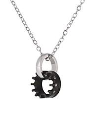Недорогие -Ожерелья с подвесками - Шестерня Мода Черный, Розовое золото 55 cm Ожерелье Бижутерия Назначение Повседневные