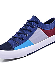 cheap -Men's Canvas / Fabric Summer Comfort Sneakers Color Block Dark Blue / Coffee / Light Blue