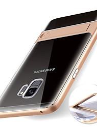Недорогие -Кейс для Назначение SSamsung Galaxy S9 S9 Plus со стендом Прозрачный Кейс на заднюю панель Однотонный Мягкий ТПУ для S9 Plus S9 S8 Plus