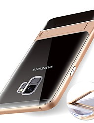abordables -Funda Para Samsung Galaxy S9 S9 Plus con Soporte Transparente Funda Trasera Un Color Suave TPU para S9 Plus S9 S8 Plus S8 S7