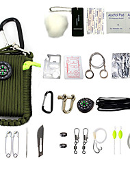 Недорогие -Survival Kit Всё в одном, Экстренная ситуация, Многофункциональный для Походы / туризм / спелеология - Металлические / Хлопок / полиэфир 29 pcs