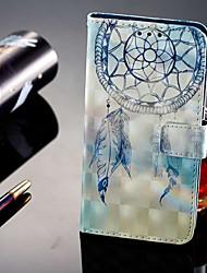 Недорогие -Кейс для Назначение Huawei P20 lite P20 Pro Бумажник для карт Кошелек со стендом Флип Магнитный Чехол Ловец снов Твердый Кожа PU для