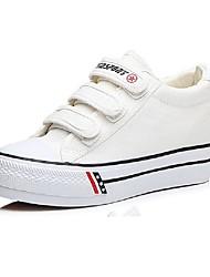 Недорогие -Жен. Обувь Полотно Осень Удобная обувь Кеды Микропоры Черный / Красный / Синий