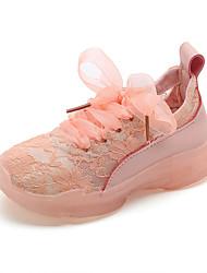 economico -Da ragazza Scarpe Tulle Primavera estate Comoda Sneakers Footing Lacci per Bambino Giallo / Verde / Rosa