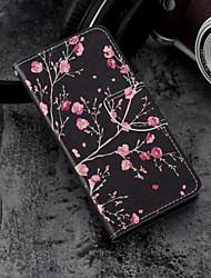 baratos -Capinha Para Huawei P20 / P20 lite Carteira / Porta-Cartão / Com Suporte Capa Proteção Completa Flor Rígida PU Leather para Huawei P20 /