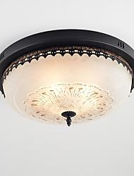 baratos -4-luz Montagem do Fluxo Luz Ambiente Acabamentos Pintados Metal Vidro Proteção para os Olhos 110-120V / 220-240V Lâmpada Não Incluída / E26 / E27