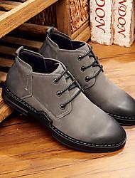 Недорогие -Муж. Ботильоны Кожа Осень Ботинки Ботинки Серый / Коричневый