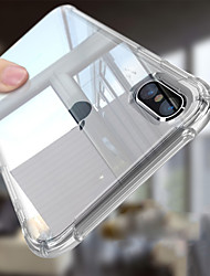 abordables -Coque Pour Apple iPhone 6s / Coque iPhone 5 Antichoc / corps Transparent Coque Couleur Pleine Flexible TPU pour iPhone X / iPhone 8 Plus