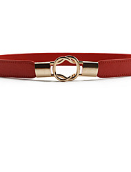 cheap -Women's Cute Wide Belt - Solid Colored