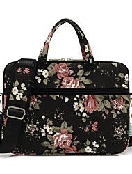 "cheap -Canvas Floral Print Handbags / Shoulder Bag 15"" Laptop / 14"" Laptop / 13"" Laptop"