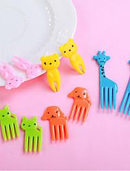 cheap -Kitchen Tools Plastics Adorable / Creative Fork 10pcs