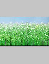 Недорогие -Hang-роспись маслом Ручная роспись - Пейзаж Цветочные мотивы / ботанический Modern Включите внутренний каркас / Растянутый холст