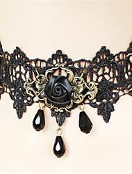 abordables -Gothique Noir Accessoires Lolita  Rétro / Dentelle Collier Dentelle