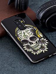 Недорогие -Кейс для Назначение SSamsung Galaxy S9 Plus / S9 С узором Кейс на заднюю панель Черепа Твердый ПК для S9 / S9 Plus / S8 Plus