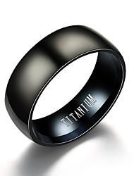 Недорогие -Муж. Кольцо Черный Титановая сталь Вольфрамовая сталь Нержавеющая сталь Круглый Винтаж Первоначальные ювелирные изделия Повседневные Для вечеринок Бижутерия